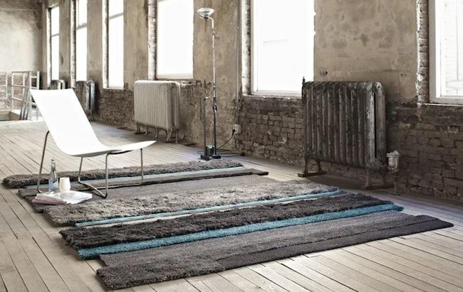 true blue rag rug