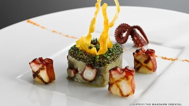 Chef Armin Leitgeb's starter is a stunning work of art.