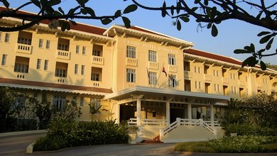 Immerse yourself in the colonial side of Siem Reap with a stay at Raffles Grand Hotel d'Angkor.