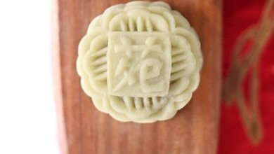 A little bit of sweet with a zing in this delectable wasabi mooncake from Li Yen.
