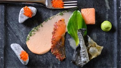 The Nordic Express menu at FINDS is as colourful as tasty.
