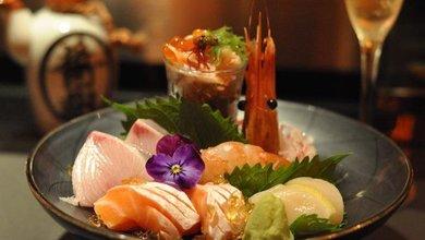 Sushi and champagne keep you cool at Armani/Aqua.