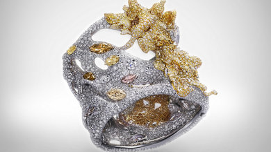 CINDY CHAO 2013 Black Label Masterpiece No.24 Four Seasons Collection Autumn Maple Cuff